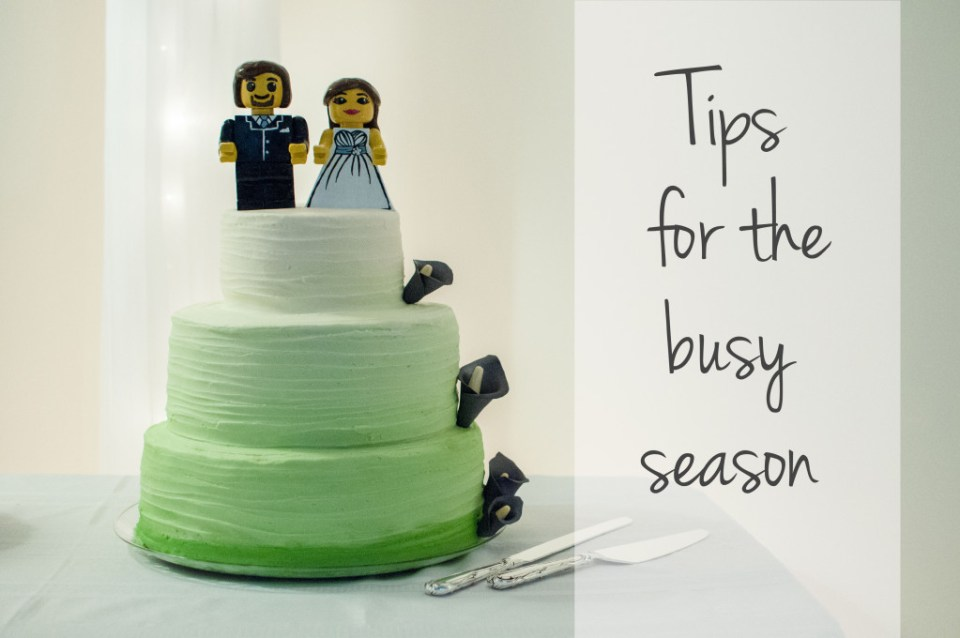 tips for the busy season, tips for photographers
