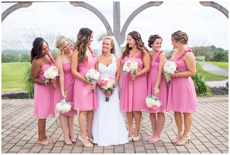 Bridal Party Penobscot Valley Country Club Wedding Photos by Linda Barry Photography