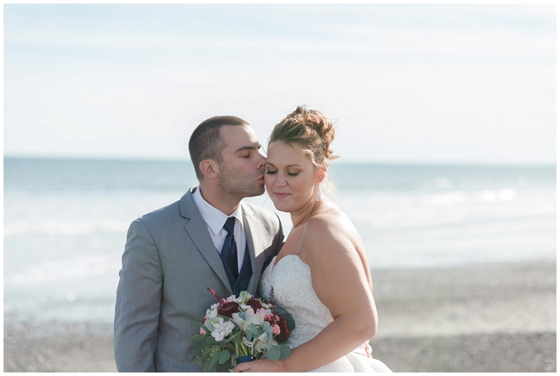 Melanie and Mike were married at Clay Hill Farm in Cape Neddick Maine. Click here to see more beautiful photos by Linda Barry Photography of their burgandy and navy wedding day! York Harbor bride and groom photos.