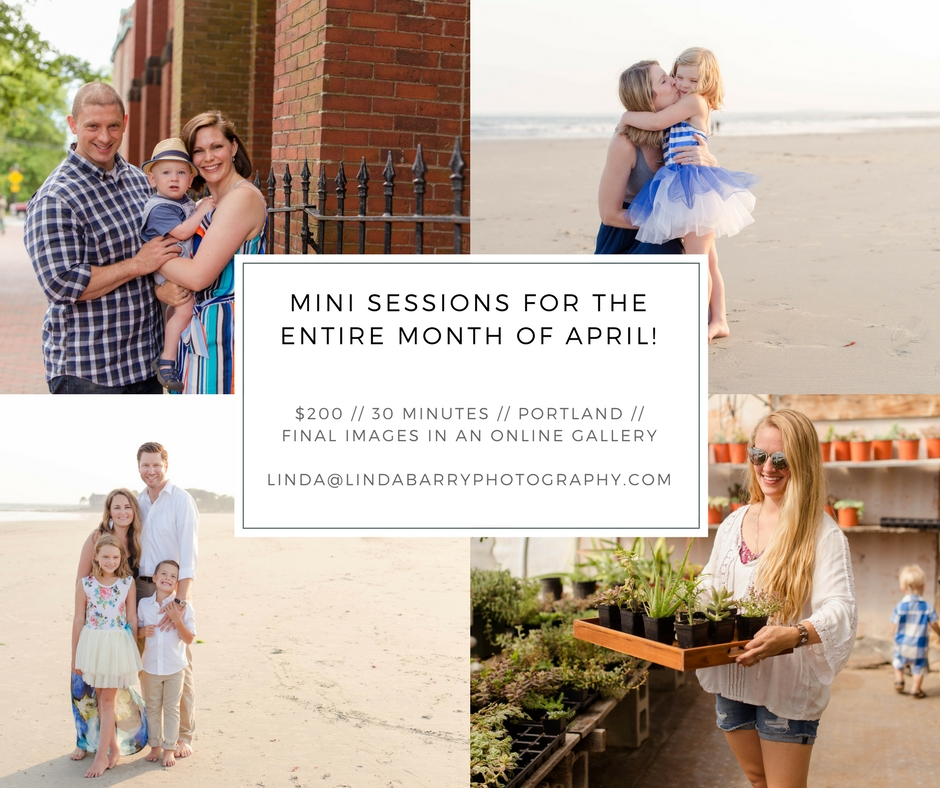 April Mini Sessions, Portland Maine