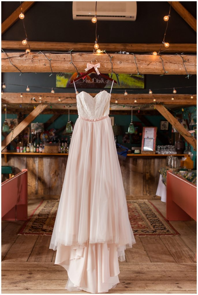 Emily and Nick were married at Stone Mountain Arts Center. Click here to see more wedding images by Linda Barry Photography. Two piece wedding gown from Andrea's bridal.