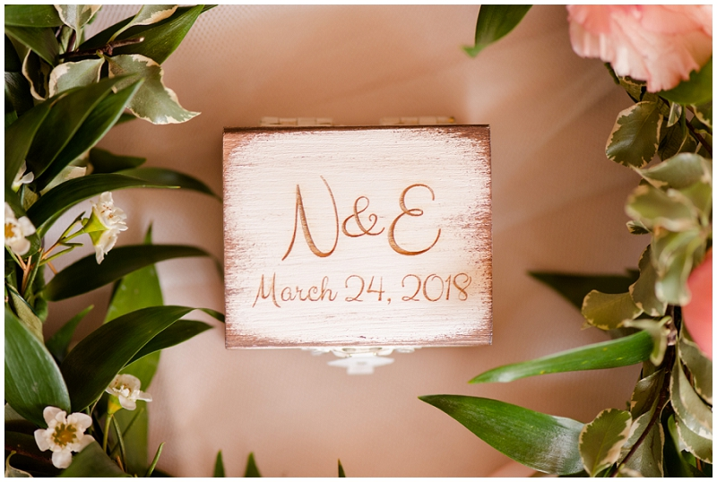 Emily and Nick were married at Stone Mountain Arts Center. Click here to see more wedding images by Linda Barry Photography. Personalized ring box.