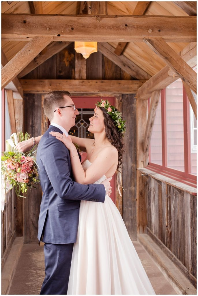 Emily and Nick were married at Stone Mountain Arts Center. Click here to see more wedding images by Linda Barry Photography. Bride and groom photos.