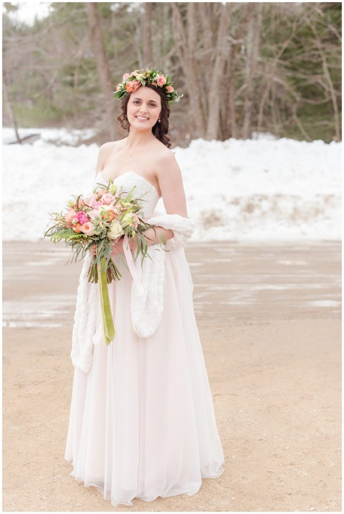 Emily and Nick were married at Stone Mountain Arts Center. Click here to see more wedding images by Linda Barry Photography. Flower crown bridal portraits.
