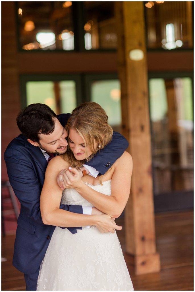 A summer wedding at the Barn at Gibbet Hill. An intimate photo of the bride and groom.