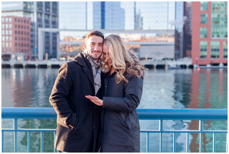 A surprise proposal session in the Boston Seaport. All photos by Linda Barry Photography.