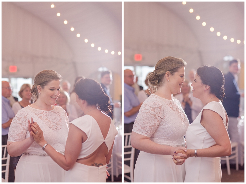A same-sex summer wedding at the Fruitlands Museum in Harvard MA. Photos by Linda Barry Photography.