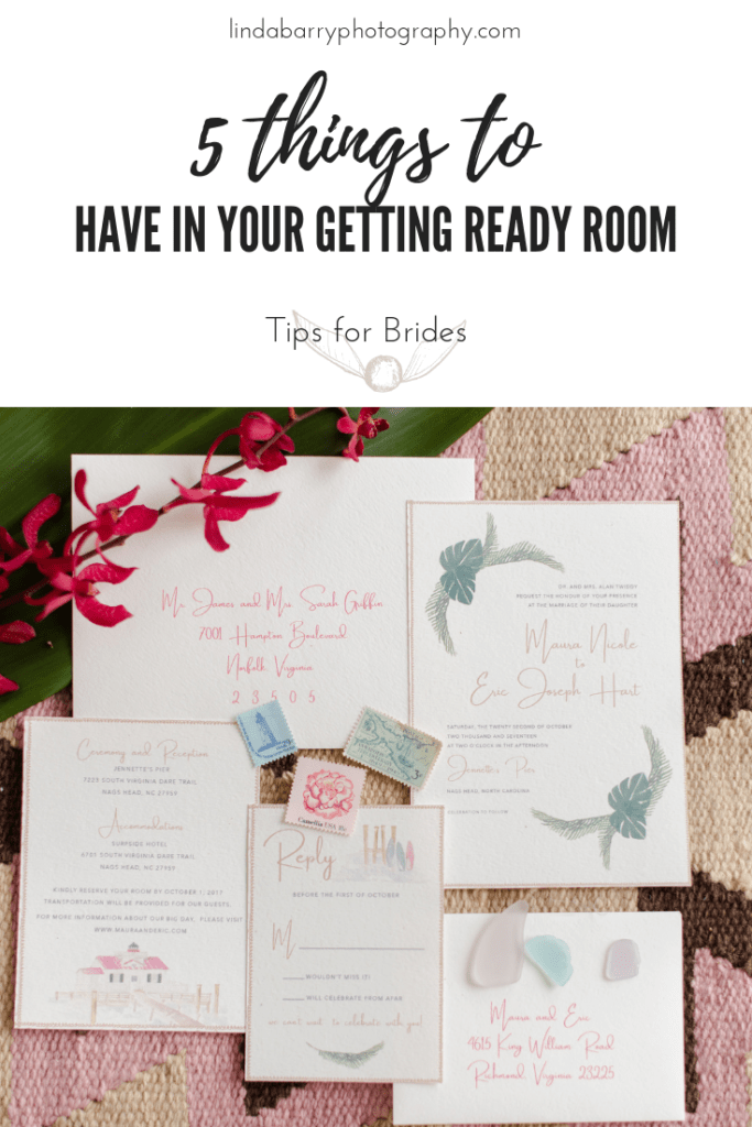 5 details to have ready in your bridal prep suite.