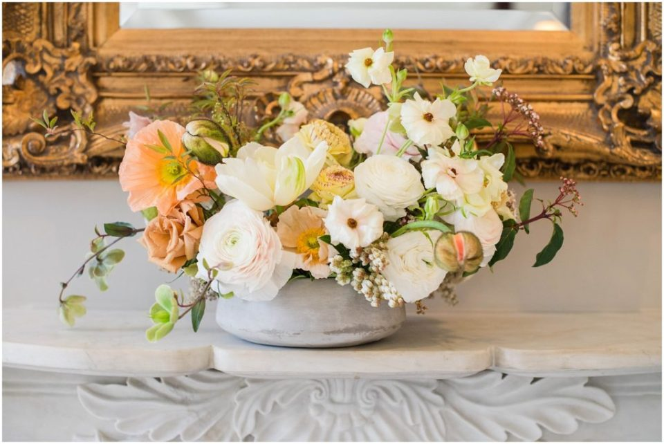 Pale yellows and beautiful ivories  in this bouquet at The Commons 1854 styled shoot!