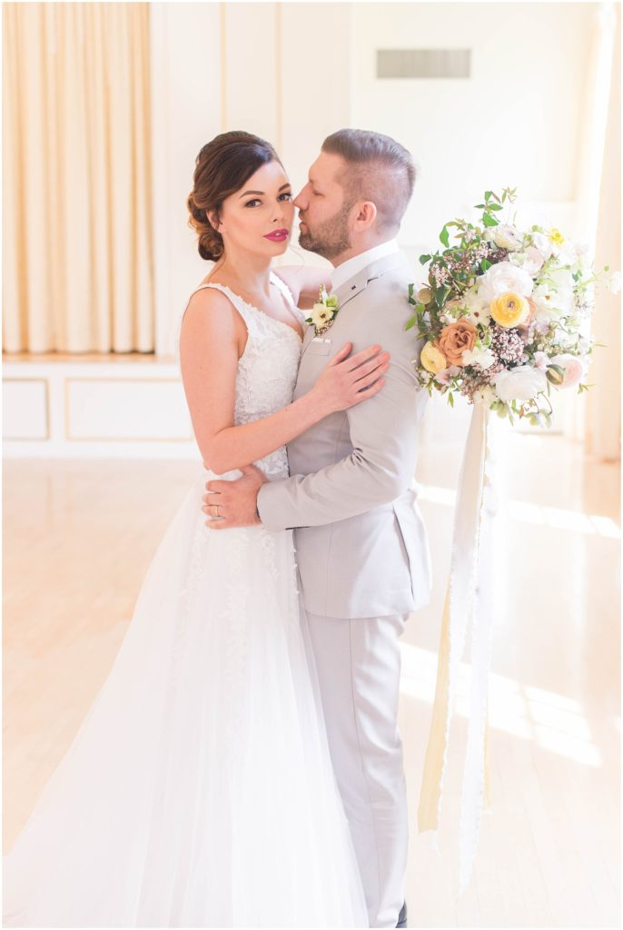 Loving these ballroom portraits of Alex and Iryne at the Commons 1854 ballroom.