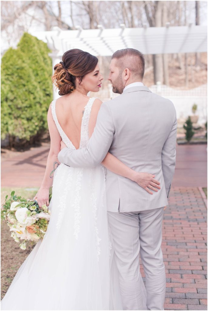 Alex and Iryne. Spring styled wedding photos by Linda Barry Photography.