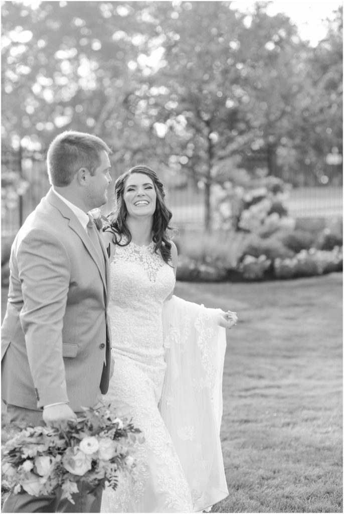 Nick and Christina were so happy during their Atkinson resort wedding!