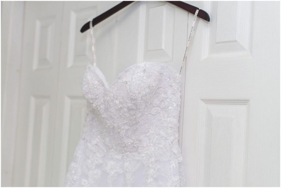 wedding dress from Andrea's bridal.