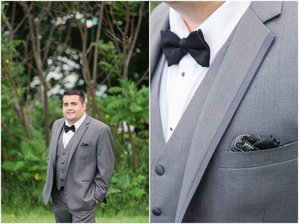 Groom portraits and details.