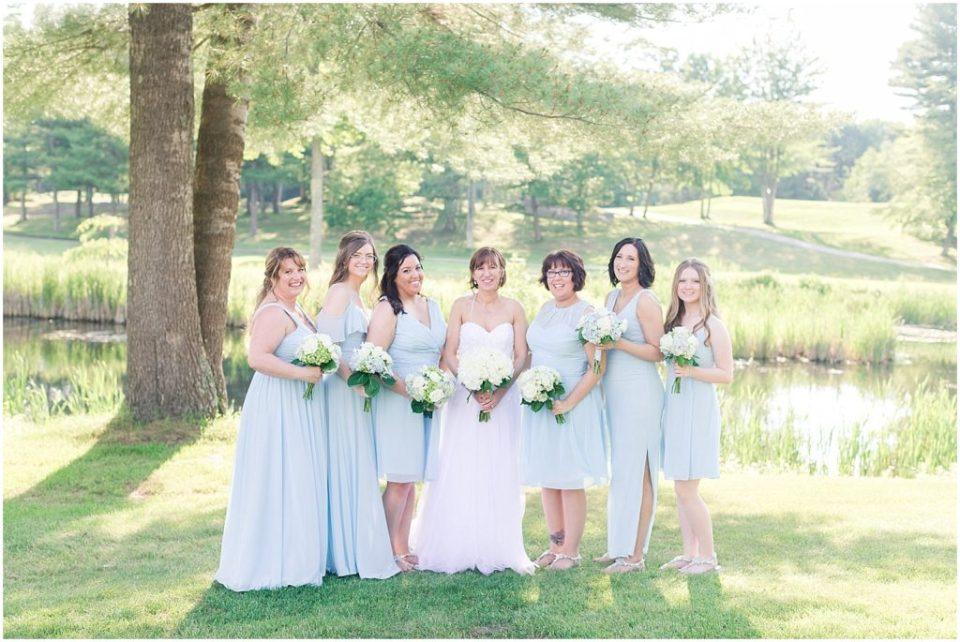 summer wedding bridesmaids portrait.