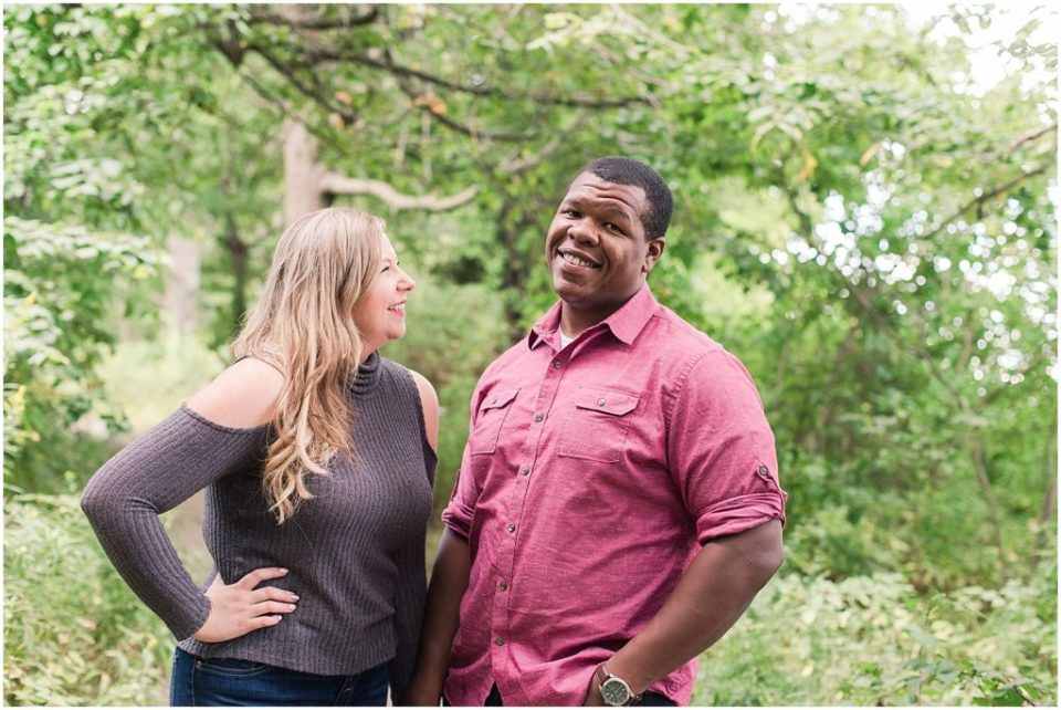 Portraits of Mykayla and Sean during their mackworth island engagement session.