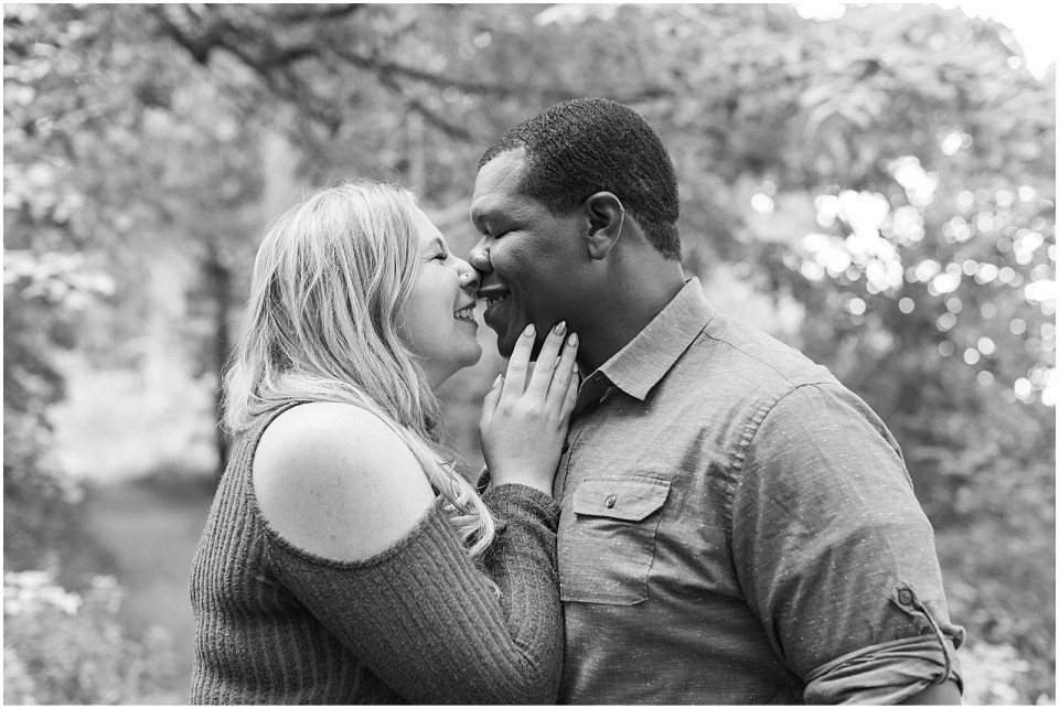 gorgeous black and white photo of Mykayla and Sean's mackworth island engagement session.