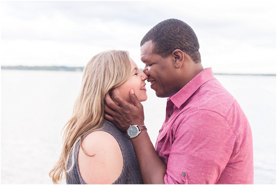 mackworth island engagement session photos by the ocean.