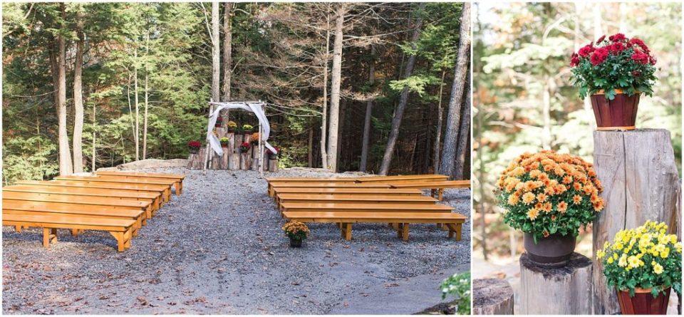 Outdoor ceremony space at Granite Ridge Estate and Barn.