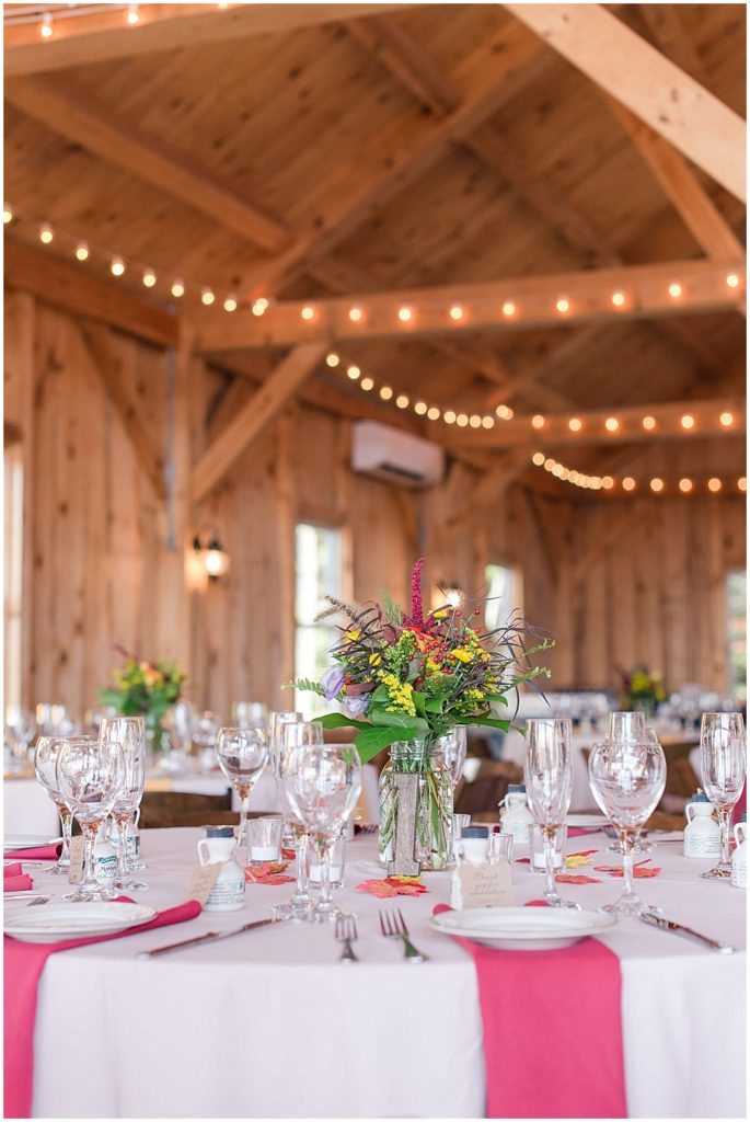 Reception space at the Granite Ridge Estate and Barn.