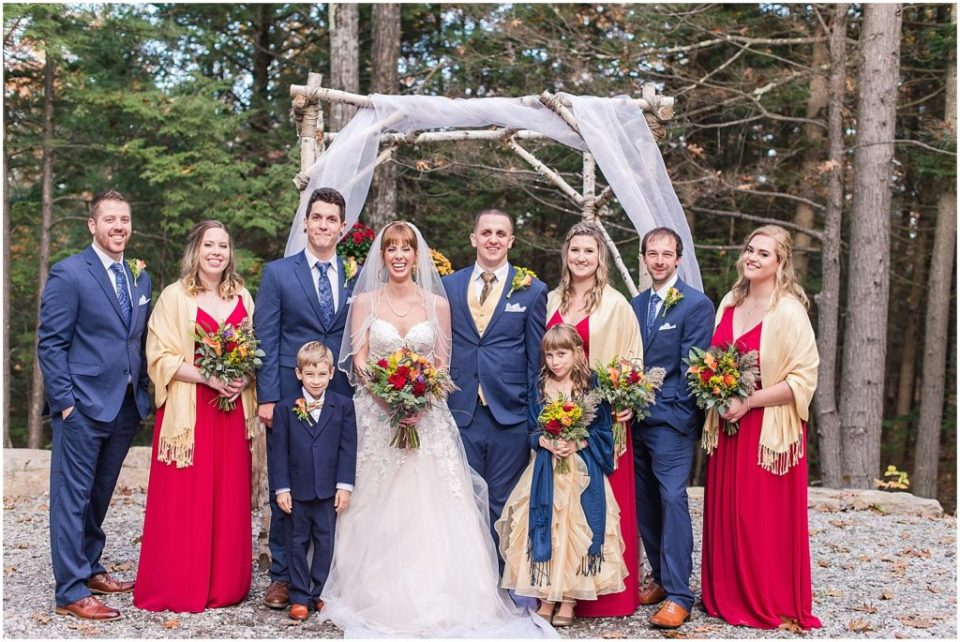 wedding party photos at the Granite Ridge Estate.