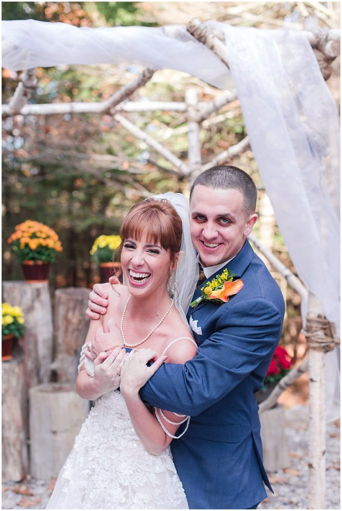 Newlywed portraits at Granite Ridge Estate.
