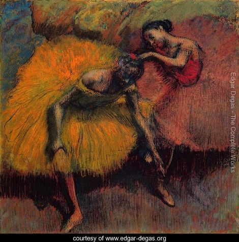 "Edgar Degas, ""Two Dancers in Yellow and Pink"" (1910)"
