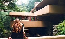 Linda at Fallingwater
