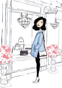 Linda Byrne illustration, fashion illustration, fashion illustrator, hand painted fashion illustration, Ireland, Dublin