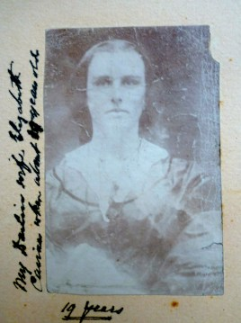 Elizabeth Cairnes aged 19, from an album of WBC's
