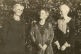 Annie Irwin Cairnes (L) and Mary Elizabeth(c) and Theresa Holmes Cairnes(R).Yarrawonga 1923