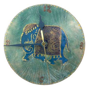 Indian Elephant Wall art Clock