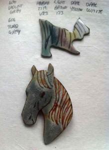 Horse-Head-Brooch