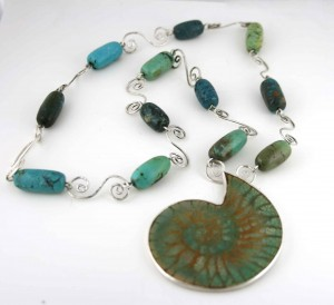 Turquoise-Fossil-with-Turquoise-beads-and-Coil-Links-2