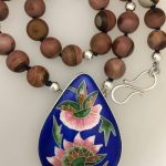 cloisonne enamel moghul garden necklace