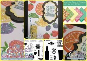 The Sweet Taste of Summer Card National Scrapbooking Month Linda Creates ~ Linda Caler www.lindacreates.com