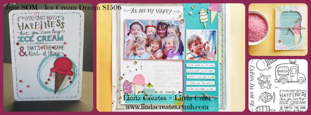 June Stamp Of The Month S1506 Ice Cream Dream