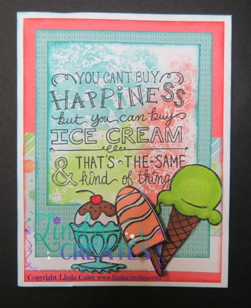 S1506 Ice Cream Dream Card 3 Linda Creates~ Linda Caler www.lindacreates.com