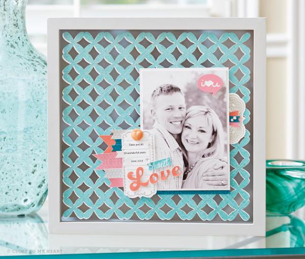 Cricut Artbooking Decor Frame Layout CTMH Linda Creates ~ Linda Caler www.lindacreates.com