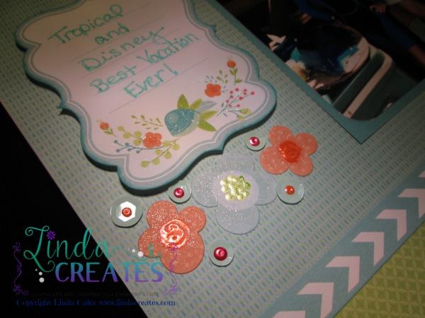 Blossom Scrapbook Layout - Linda Creates www.lindacreates.com