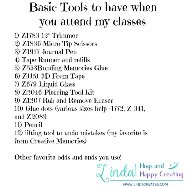 Basic tools for classes
