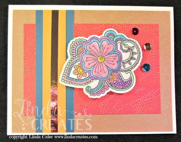 FL Ornate Blossom Card