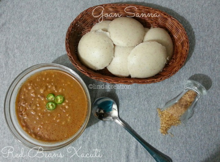 Sannas with Red Beans Xacuti