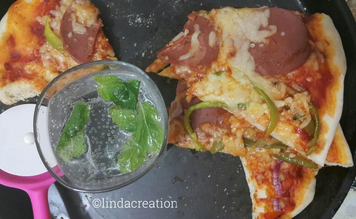 Chicken Salami Pizza
