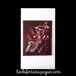 Tableau abstrait rouge - Promesse