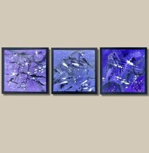 tableau triptyque violet