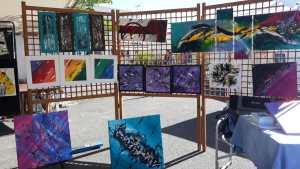 Tableau abstrait exposition 2019