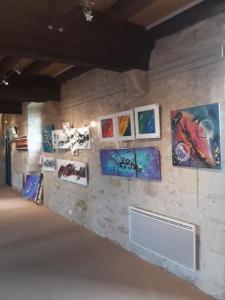 tableau abstrait moderne expositions Bouin