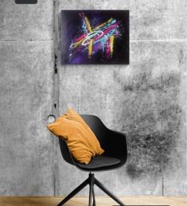 Tableau abstrait moderne, peinture abstraite moderne fait main