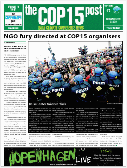 Cover of today's issue: Thursday, December 17, 2009